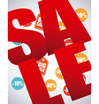 sale icons design vector image