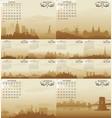 skyline calendar vector image