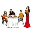 Thanksgiving or Christmas dinner vector image