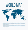 a world map vector image