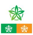 circle leaf flower nature logo vector image