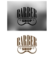 Retro barber shop emblem with mustache vector image