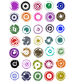splatted circles vector image vector image