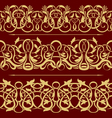 gold floral seamless vector image