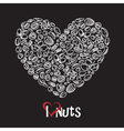 nuts icon as heart vector image vector image