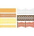 fences set vector image