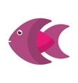 Isolated fish animal cartoon design vector image