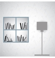 Simple book shelf vector image