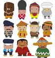world characters vector image