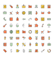 icons thin blue business vector image vector image