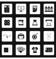 Printing icons set in simple style vector image