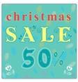 Christmas Sale Floral font Vintage retail card vector image