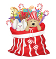 toys bag santa vector image