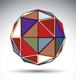design spherical object with kaleidoscope effect vector image