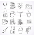 Wine industry objects icons vector image vector image