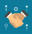 Flat design hand shake vector image vector image