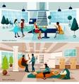 Loft Studio Compositions Set vector image