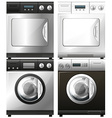 Washing and drying machines vector image