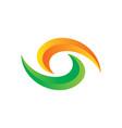 abstract swirl 3d eye shape logo vector image