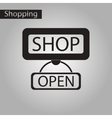 black and white style icon label store opened vector image