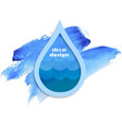 blue drop vector image