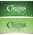 Christmas green greeting card vector image