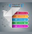 origami dove - business infographic vector image