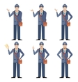 Set of Postmen vector image