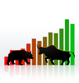 stock market concept design with bull and bear vector image