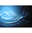 Dark blue wavy backdrop vector image vector image