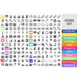 mega set of flat icons vector image