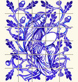 blue oak fairy azulejo ceramic tile magnet vector image