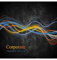 Colourful glowing waves grunge design vector image