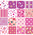 set of kid seamless patterns vector image
