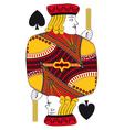 Jack of spades no card vector image