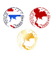 made in Thailand stamp vector image