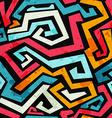 bright graffiti seamless pattern with grunge vector image