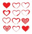 love heart designs vector image