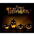 Laughing Halloween lanterns vector image