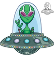 Alien Flying Saucer vector image