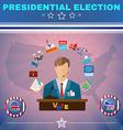 Usa Presidential Election Debates Banner vector image