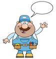 Talking Mechanic Cartoon vector image vector image
