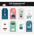Cute scandinavian set vector image