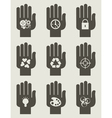 Set of hands vector image