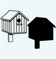 Bird houses nesting box vector image