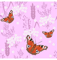 butterfly on pink vector image