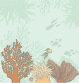 Corallfishandtext vector image