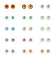 Set of colorful eye balls vector image