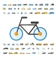 Vehicle and Transportation icon set vector image