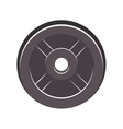 silhouette disc weights for training in gym vector image